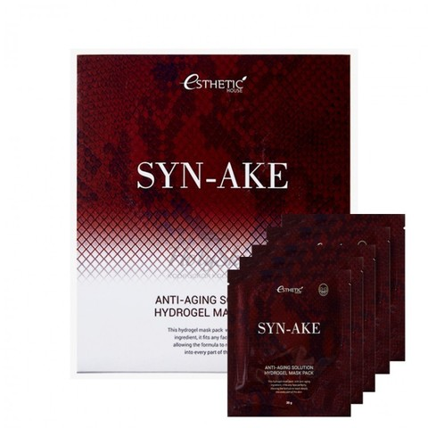 Гидрогелевая маска ESTHETIC HOUSE SYN-AKE ANTI-AGING SOLUTION HYDROGEL MASK PACK 30 гр