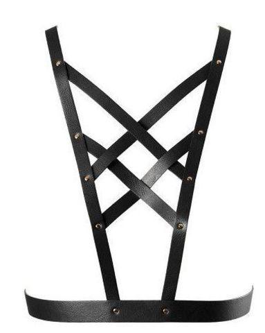 Чёрная упряжь MAZE Cross Cleavage Harness