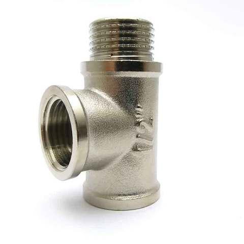 Тройник никелированный 1/2'' ВВН SD Forte