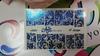 Фольга для дизайна ногтей цвет синий 17 купить за 120руб