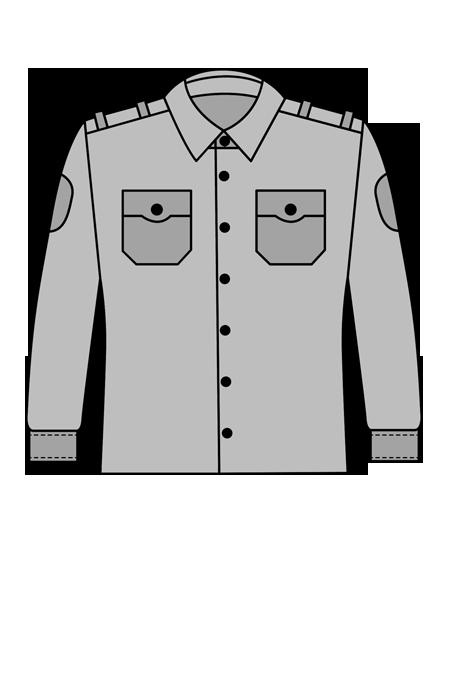 Рубашка ведомственная с длинным рукавом