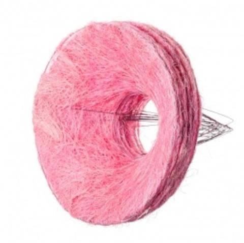 Каркас для букета гладкий (сизаль, диаметр: 30 см) Цвет: розовый