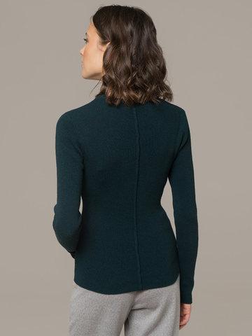 Женский темно-зеленый джемпер из 100% кашемира - фото 2
