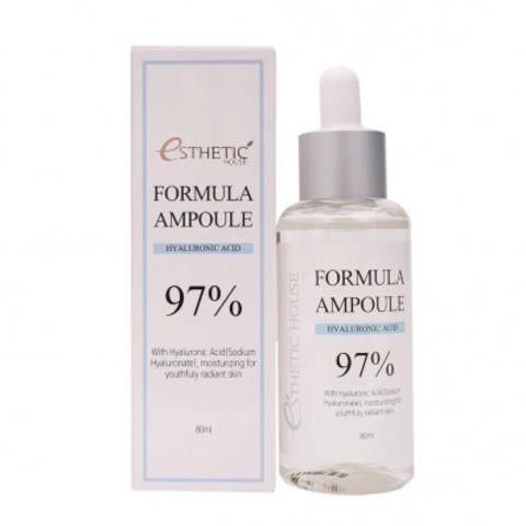 Ампульная сыворотка с гиалуроновой кислотой  Esthetic House formula ampoule Hyaluronic Acid 97%, 80 мл