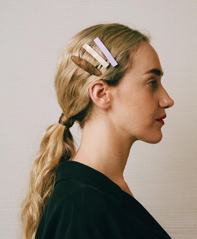 Заколка Bar Hair Clip mini перламутр