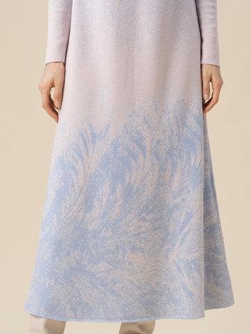 Женское платье мультиколор из кашемира и вискозы - фото 5