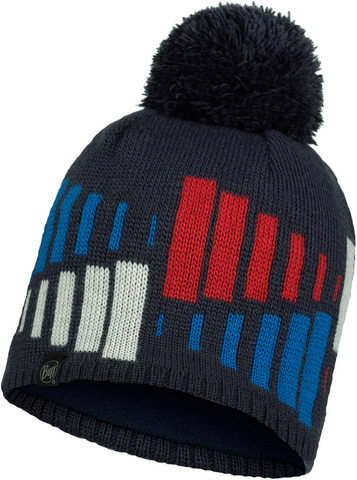 Шапка вязаная с флисом Buff Hat Knitted Polar Mitch Night Blue фото 1