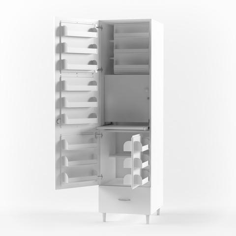 Шкаф медицинский для фармпрепаратов ШМФ-01  (мод.1) - фото