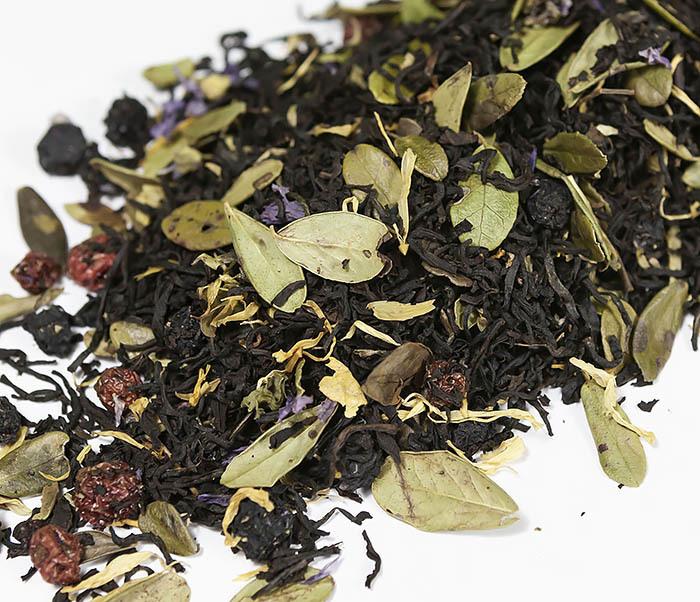 TEA-AR113 Черный ароматизированный чай «Таежный Сбор», черные типсы (50 гр) фото 04