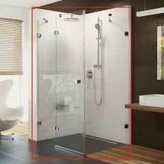 Душевой уголок с распашной дверью 100х100х195 см левый Ravak Brilliant BSDPS-100/100 L 0ULA0A00Z1 фото