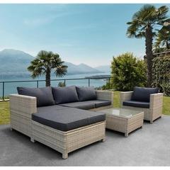 Комплект плетеной мебели YR821G Grey/Grey