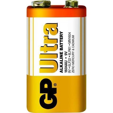 Батарейки GP 1604AU-S1 Ultra alkaline 6LF22, крона, 9V, 10/100