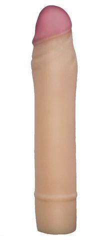 Телесная насадка-удлинитель из неоскин - 19,5 см.