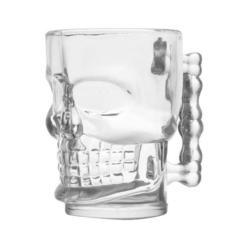 Пивная кружка Череп, 300 мл, стекло, фото 4