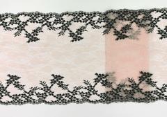 Эластичное кружево, ОПТ светло-розовый и черный, 23 см, (Арт: EK-2139), м