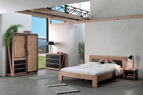 Спальня из массива лофт Ятелей