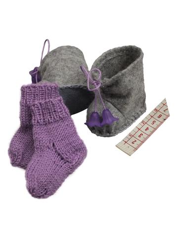 Сапожки-угги из фетра + носки - Демонстрационный образец. Одежда для кукол, пупсов и мягких игрушек.