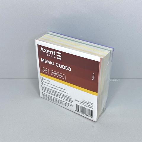 Листки для записей Axent проклеенные 90х90 мм (300 л.) цветные
