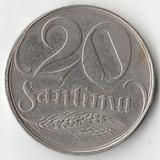 1922 SR1853 Латвия 20 сантим