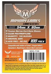Протекторы для настольных игр Mayday Yucatan Narrow Card Game (54x80) - 100 штук