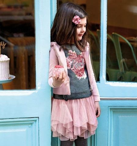 Комплект Mayoral джемпер и юбка Цветочный Rock
