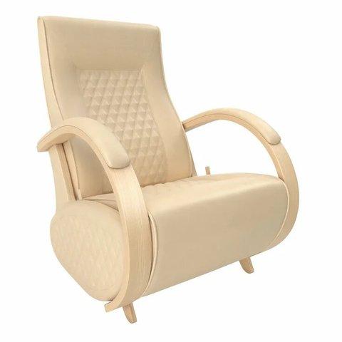 Кресло-глайдер Balance Balance-3 с накладками, натуральное дерево/Polaris Beige, 014.003