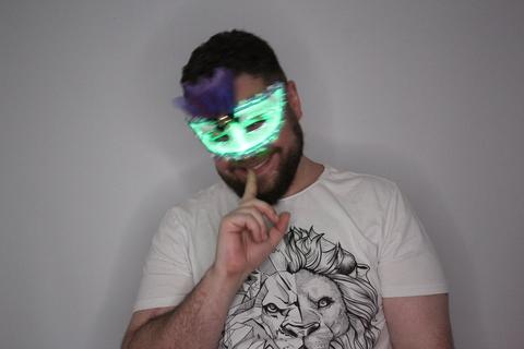 Светящаяся Карнавальная маска