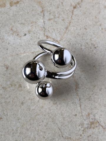 Кольцо Моноглаус, серебряный цвет