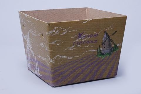 Коробка- пакет 15х12,5х11 см Мельница
