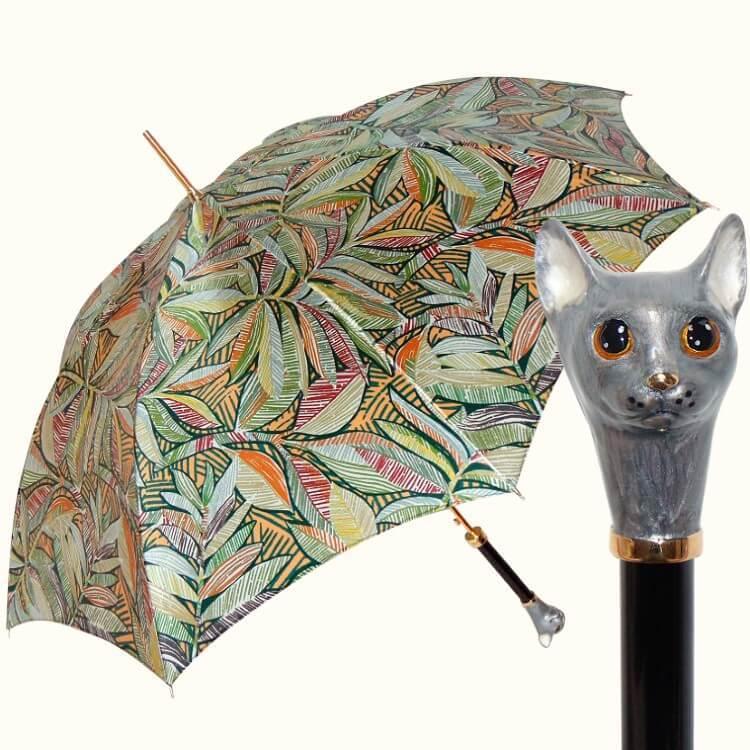 Зонт-трость Pasotti 20 9F 287-4K49 GREY CAT