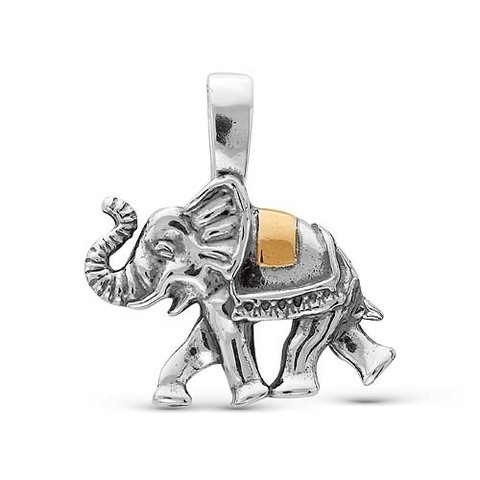 """Подвеска """"Слон"""" с серебрением"""
