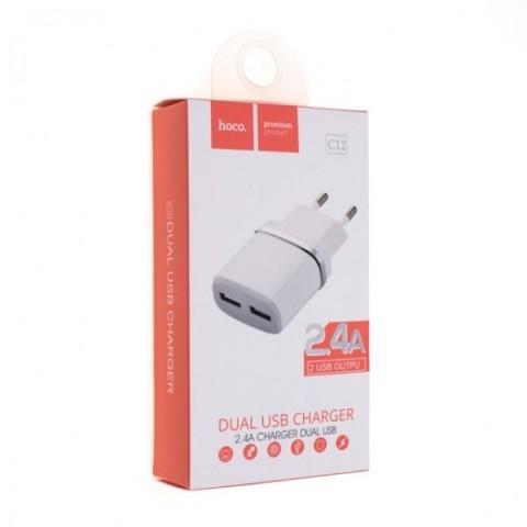Купить сетевое зарядное устройство Hoco C12