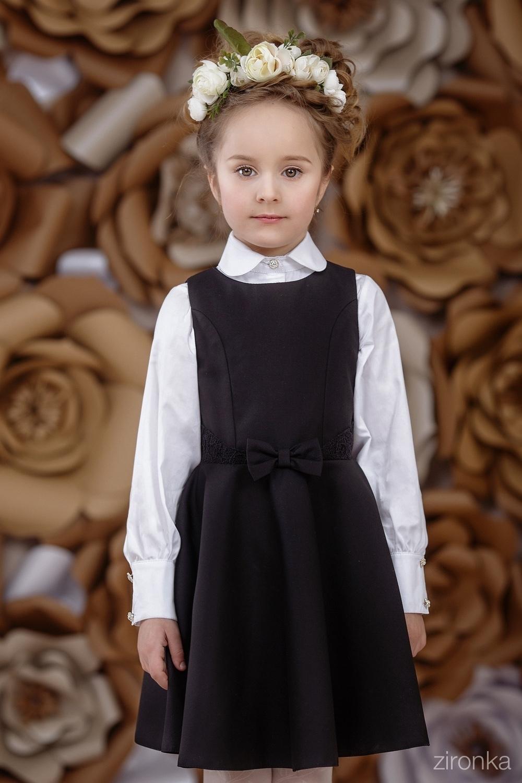 Сарафан черный для девочки 6569-1