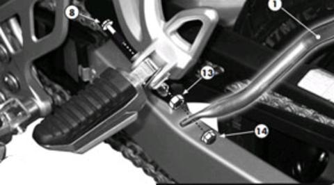 Боковой крепеж кофров Kappa на Suzuki Bandit 650 K7 (c 2007 г.)