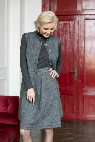 Фото трикотажная юбка со складками на поясе - Юбка Б156-076 (1)