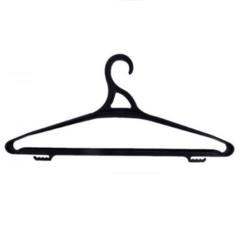 Плечики для верхней одежды, черные VO-47/2  L= 470 мм, черный