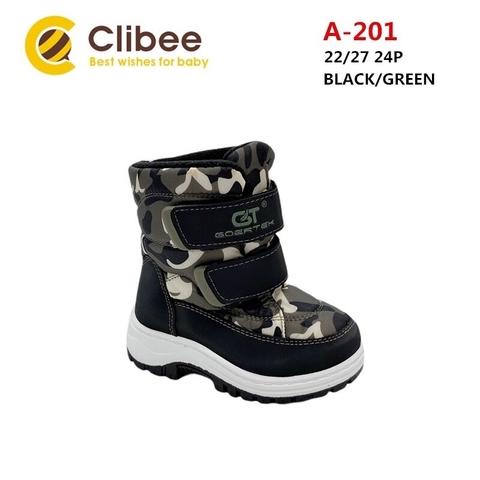 Clibee (зима) A201 Black/Green 22-27