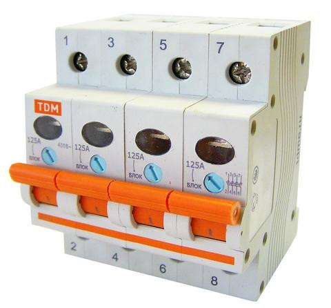 Выключатель нагрузки (мини-рубильник) ВН-32 4P 125A TDM