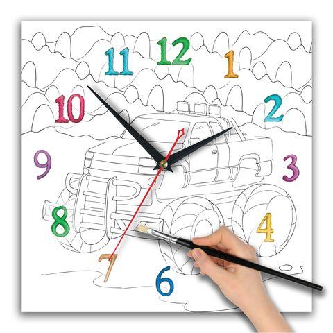 часы раскраска для мальчиков