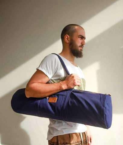 Хлопковая сумка для йога коврика YC