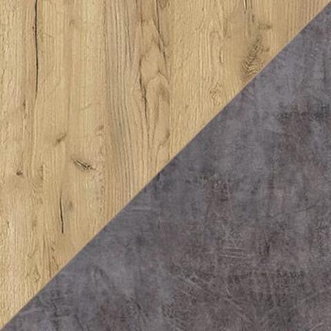 Шкаф - витрина Арчи 03.263 Моби дуб золотой CRAFT, камень темный U3705