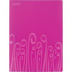 Папка с зажимом Attache Fantasy А4 0.5 мм розовая (до 120 листов)