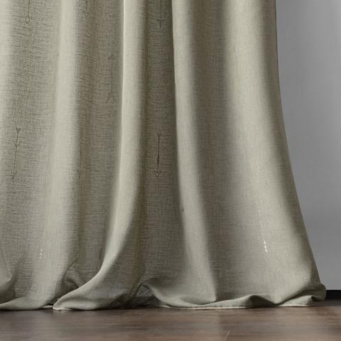 Комплект штор Стрелки с вышивкой капучино