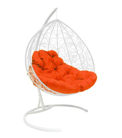 Кресло подвесное Lagos TWIN white/orange