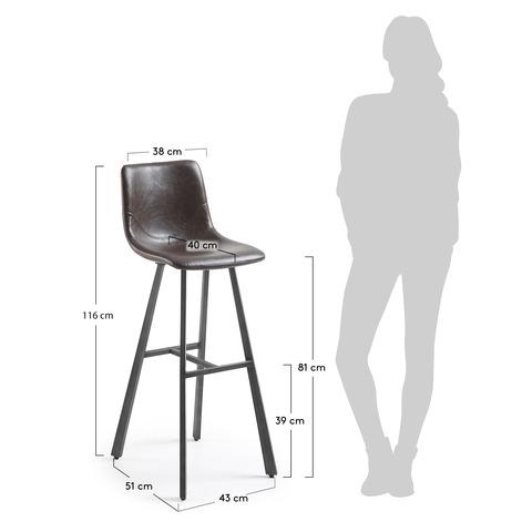Барный стул Trac темно-коричневый
