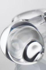Прозрачная анальная втулка из стекла - 10,5 см.