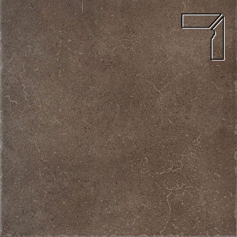 Interbau - Alpen, Engadin/Бурый песок, цвет 045 - Клинкерный плинтус ступени правый, 3 части