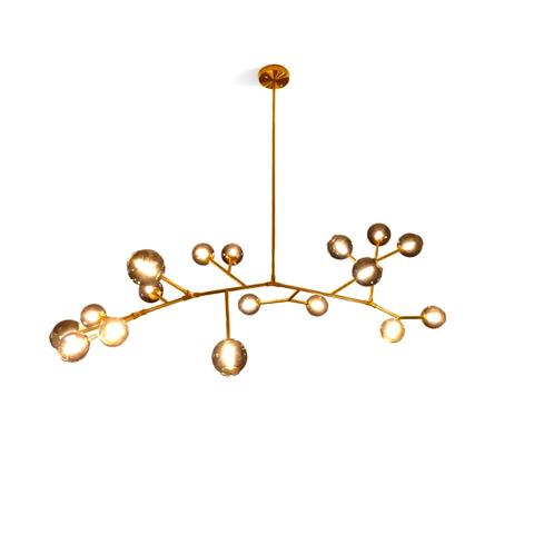 Потолочный светильник копия Last Night Branche by Damien Langlois-Meurinne (коричневые плафоны)