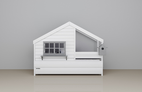 кроватка-домик со скворечником