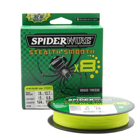 Плетеная леска Spiderwire Stealth Smooth 8 Braid Ярко-желтая 150м 0,13мм 12,7кг